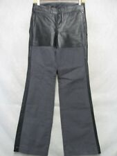 A7253 Diesel Black w/Leather Contrast NWT Straight Pants Men 28x31