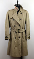 BURBERRY MEN'S NOVA CHECK COLLAR TRENCH COAT SIZE 52 XL