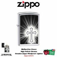 Zippo Reflective Cross Pocket Lighter, High Polish Chrome, Windproof #29074