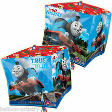 "15"" Thomas The Tank Engine True Blue Train Party CUBE Shape Foil Balloon"