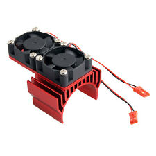 RC Electric Motor Heat Sink and Two Cooling Fan For  Model Car 540 550 Red 7019