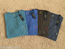 NEW 4 LOT POLO RALPH LAUREN POCKET T SHIRT MENS MEDIUM