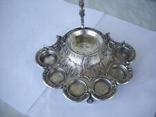 WMF Rare  Antique Art Nouveau  Silverplate Brass Relief Tray