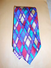 GIANNI VERSACE Vintage Blue Red Yellow Green Suit Tie 17*