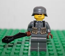 Custom WW2 German Soldier w/Paunzerfaust - Printed Torso   - Lego