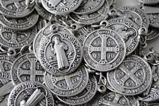 Catholic Italian St Benedict Medal Lot - 100 Medals - FAST FREE IN SHIPPING USA