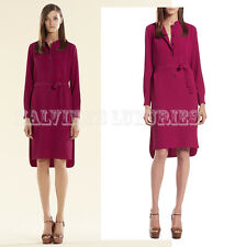 $1,800 GUCCI DRESS FUCHSIA FLUID SILK SHIRTDRESS BUTTON PLACKET IT 40 US 4