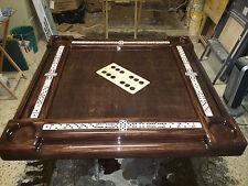 Unique Large All Wooden Domino Inlay Domino Table by Domino Tables by Art