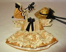 "Stunning Silk Couture fashion for 6"" Mignonette Bisque french or German Doll"