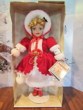 Fine porcelain 2001 Angelina Doll  edition collection blond curly hair RED DRESS