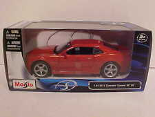 2010 Chevy Camaro SS RS Coupe Die-cast Car 1:24 Maisto 7.5 inch Orange