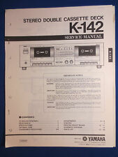 YAMAHA K-142 CASSETTE SERVICE MANUAL ORIGINAL FACTORY ISSUE