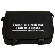 Freddie Mercury Rock Star Quote Black Messenger Flight Bag queen fans NEW