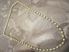 GOLD PLATED ENGLISH/ASIAN/INDIAN BALL CHAIN FOR WEDDING/PARTY/FANCY DRESS, BNEW