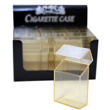 (4 Pack) Cigarette Case/Box King Size Cigarettes Flip Top Plastic - Clear
