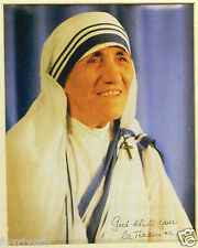 MOTHER TERESA Signed Photograph - Nun / Humanitarian - preprint