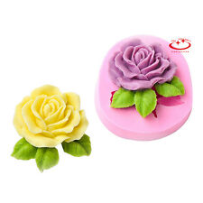 Big Rose Flower Silicone Soap Mold Craft Molds DIY Handmade Soap Mould Baking