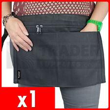 1 x 4 Pocket BLACK Market Trader Money Bag Cash Belt