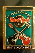 HRC hard rock cafe tokyo 15th Anniversary 1997 Green rectangle crossed Guitar