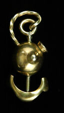 Vtg 1940's Nautical Figural ANCHOR Sailor Hat INDUSTRIA ARGENTINA Brass BROOCH