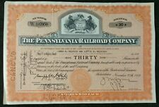 1956 The Pennsylvania Railroad Company 30 Share Certificate Scripophily