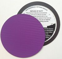 magnetic tax disc holder PURPLE carbon fibre Fits audi seat skoda kia saab volvo