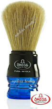 OMEGA PROFESSIONAL PURE BRISTLE SHAVING BRUSH Wet Lather Soap Cream Shave Men