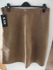 "BNWT Suedette Tan A-line Skirt Lined  Size 16UK ""B"" You"