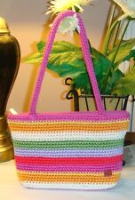 THE SAK Pink Multi-color Striped Shoulder Handbag
