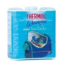 Confezione da 2 MINI VIAGGIO Frigo Portatile Borsa Ghiaccio Congelatore Blocchi Pack Sandwich COOL BAG