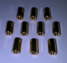 10mm Brass Spacer - Copper Alloy Hex Nut - Board Spacer - UK Seller - Free P&P