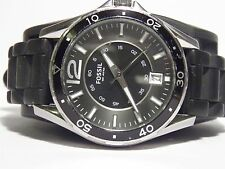 VINTAGE FOSSIL AM 4264 DATE DIVER DIGITAL WATCH NEW BATTERY 10ATM WR SEE VIDEO