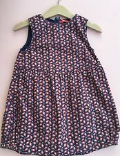 *OILILY* girls Blue Printed Dress (18-24 months) 24M A563