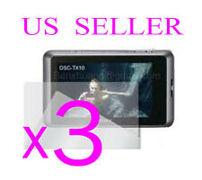 3x Sony CyberShot DSC-TX10 Clear LCD Screen Protector Guard Shield Film