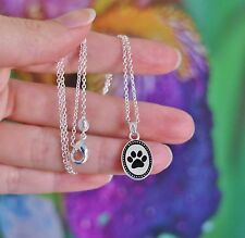 Pawprint NECKLACE Paw Print Pet Dog Cat Lover Gift .925 Sterling Silver Chain