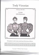 Ladies Truly Victorian Sewing Pattern for 1890's style blouse shirtwaist TV494