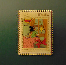 Disney Grenada MORTY MOUSE & 101 DALMATIANS Postal Stamp PIN 1/2¢ Christmas '83