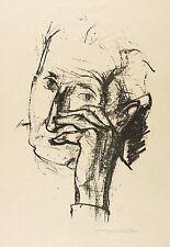 Hans Theo giudici-Testa della madre dell'artista-LITOGRAFICO 1952/1953