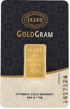 10 gram 24 karat pure  fine gold bar 999.9 international gold  certificated