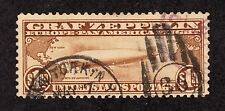 US C14 $1.30 Graf Zeppelin Used F-VF SCV $375