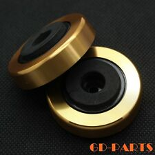 Generic Aluminum Plastic Isolation Feet Pad Stand for AMP Speaker Golden 45*15mm