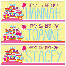 2 3ftX1ft PERSONALISED BIRTHDAY BANNERS 1st 2nd 3rd 4th 5th 6th 7th 8th 9th 10th