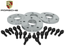 4 Pc Porsche Cayenne 20 MM Hub Centric Wheel Spacers & OEM Extended 14x1.5 Bolts