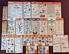 Lot of 25 Fiskars Repositionable Acrylic & Rubber Stamp Sets - 110 stamps!