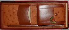 Vintage USA Made New NOS RANDS Bench-Made Billfold Wallet Ostrich Goat Leather