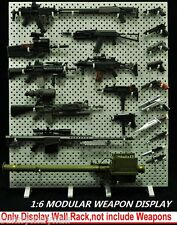 1:6Scale Weapons Display Wall Modular Gun Rack(Weapons not included) F 12'' Toys