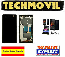 PANTALLA DISPLAY LCD + MARCO COMPLETO SONY XPERIA Z NEGRO C6602 C6603 C6616 L36H