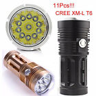 11x 28000 LM 3 Modes CREE XM-L T6 LED Hunting Flashlight 4x 18650 Torch Lamp HOT