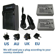 2X NB-10L Battery&charger for Canon PowerShot SX40 SX50 SX60 HS G1X G15 G16