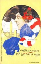 A2670) BOLOGNA FESTE DI MAGGIO 1902, ILLUSTRATORE DUDOVICH. VIAGGIATA NEL 1902.